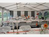 Marquee Exclusive 6x12 m PVC, Grey/White - 13