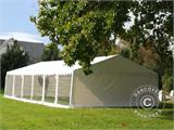 Marquee Exclusive 6x12 m PVC, White, Panorama - 1