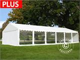 Marquee Exclusive 6x12 m PVC, White, Panorama - 5