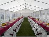 Marquee PLUS 5x10 m PE, White + Ground bar - 14