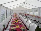 Marquee PLUS 5x10 m PE, White + Ground bar - 15