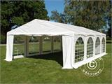 "Tente de réception Original 5x8m PVC, ""Arched"", Blanc - 1"