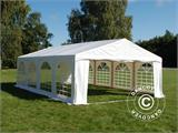 "Tente de réception Original 5x8m PVC, ""Arched"", Blanc - 4"
