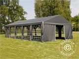 Partytent UNICO 5x10m, Donkergrij - 1