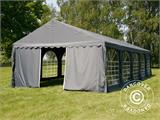 Partytent UNICO 5x10m, Donkergrij - 7