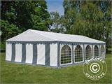 Partytent Exclusive 6x10m PVC, Grijs/Wit - 1