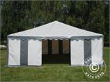 Partytent Exclusive 6x10m PVC, Grijs/Wit - 3