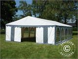 Partytent Exclusive 6x10m PVC, Grijs/Wit - 5