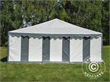 Partytent Exclusive 6x10m PVC, Grijs/Wit - 6