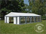 Partytent Exclusive 6x10m PVC, Grijs/Wit - 7