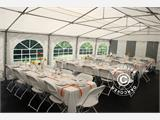 Partytent Exclusive 6x10m PVC, Grijs/Wit - 10