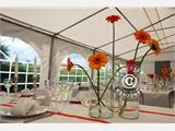 Partytent Exclusive 6x10m PVC, Grijs/Wit - 11