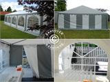 Partytent Exclusive 6x10m PVC, Grijs/Wit - 12