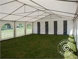 Partytent Exclusive 6x10m PVC, Grijs/Wit - 13