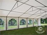 Partytent Exclusive 6x10m PVC, Grijs/Wit - 14