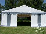 Partytent Exclusive 6x10m PVC, Grijs/Wit - 16