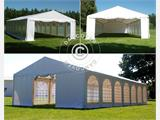 Carpa para fiestas, SEMI PRO Plus CombiTents® 6x14m, 5-i-1, Blanco - 15