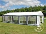 Marquee Original 4x10 m PVC, Grey/White - 1