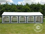 Marquee Original 4x10 m PVC, Grey/White - 2
