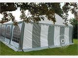Marquee Original 4x10 m PVC, Grey/White - 6