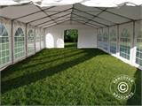 Tendone per feste, SEMI PRO Plus CombiTents® 7x12m 4 in 1, Bianco - 7