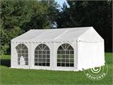 Tendone per feste, SEMI PRO Plus CombiTents® 7x12m 4 in 1, Bianco - 8