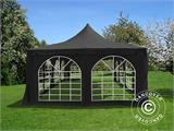 Partytelt Pagoda 4x8m, Sort - 2