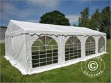Solution SmartPack 2 en 1: Tente de réception Original 4x8m, Blanc/tonnelle 4x4m, sable - 6