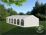 Solution SmartPack 2 en 1: Tente de réception Exclusive 6x12m, Blanc/tonnelle 4x4m, sable - 1