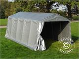 Portable Garage PRO 3.3x6x2.4 m PE, Grey - 4