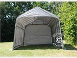 Portable Garage PRO 3.77x7.3x3.18 m PVC, Grey - 1