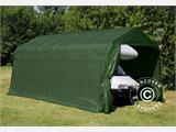 Portable Garage PRO 3.77x7.3x3.18 m, PVC, Green - 1