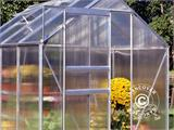 Greenhouse Polycarbonate Halls Popular 5m², 1.93x2.57x1.95 m, Aluminium - 1