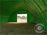 Arched Storage tent 9.15x12x4.5 m, PVC, Green - 9