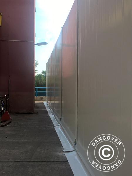Hangar de stockage industriel 20x30x8 04m avec porte for Porte hangar coulissante