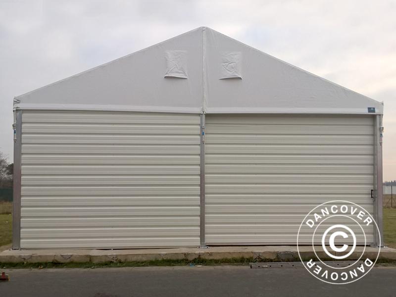 Hangar de stockage industriel 10x10x4 52m avec porte for Porte hangar coulissante