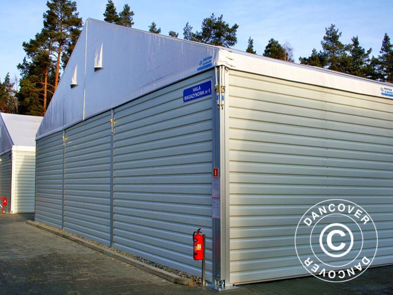 hangar de stockage industriel 15x15x6 03m avec porte coulissante pvc m tal blanc dancovershop be. Black Bedroom Furniture Sets. Home Design Ideas