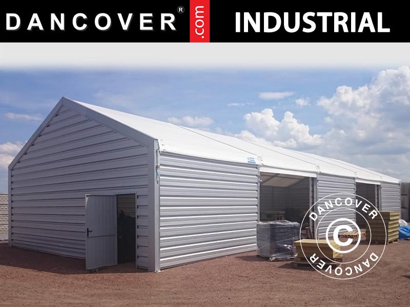 hangar de stockage industriel 20x30x8 04m avec porte coulissante pvc m tal blanc dancovershop be. Black Bedroom Furniture Sets. Home Design Ideas
