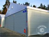 Industrial Storage Shelter Alu 20x30x8.04 m w/sliding gate, PVC/Metal, White - 4