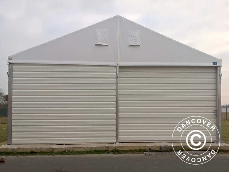 hangar de stockage industriel 20x50x9 04m avec porte coulissante pvc m tal blanc dancovershop fr. Black Bedroom Furniture Sets. Home Design Ideas