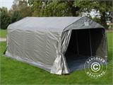 Portable Garage PRO 3.6x6.0x2.68 m PE, with ground cover, Grey - 1