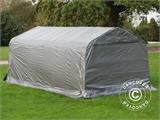 Portable Garage PRO 3.6x6x2.68 m PE, with ground cover, Grey - 2