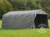 Portable Garage PRO 3.6x6.0x2.68 m PE, with ground cover, Grey - 5