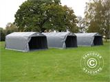 Portable Garage PRO 3.6x6x2.68 m PVC, with ground cover, Grey - 4