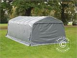 Portable Garage PRO  3.6x8.4x2.68 m PVC, with ground cover, Grey - 7