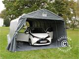 Portable Garage PRO 3.6x8.4x2.68 m PVC, with ground cover, Grey - 8