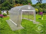Serre tunnel, 2,4x3,6x2,4m, PE, 8,6m², Transparent - 2