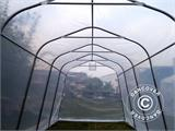 Polytunnel Greenhouse, 2.4x6x2.4 m, PE, 14.4 m², Transparent - 5