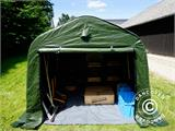 Storage tent PRO 2.4x2.4x2 m PE, with ground cover, Green/Grey - 6