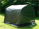 Storage tent PRO 2.4x2.4x2 m PE, with ground cover, Green/Grey - 9